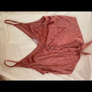 Free people knotted velvet top